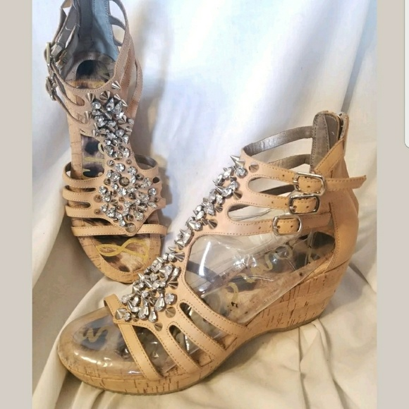 4afe939621a7 Sam Edelman sandals 7.5 M Nell nude gladiator stud.  M 5a61e5a2fcdc3104c70eb3e9